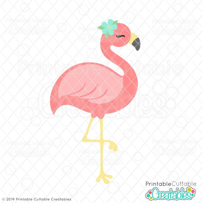 Download Pretty Flamingo SVG File & Clipart for Cricut & Silhouette ...