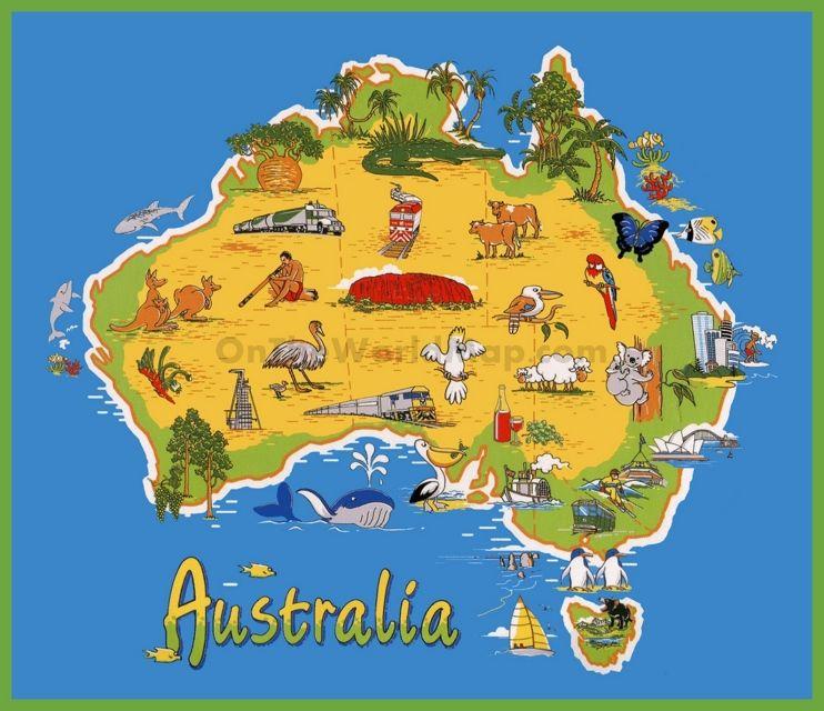 Travel map of Australia