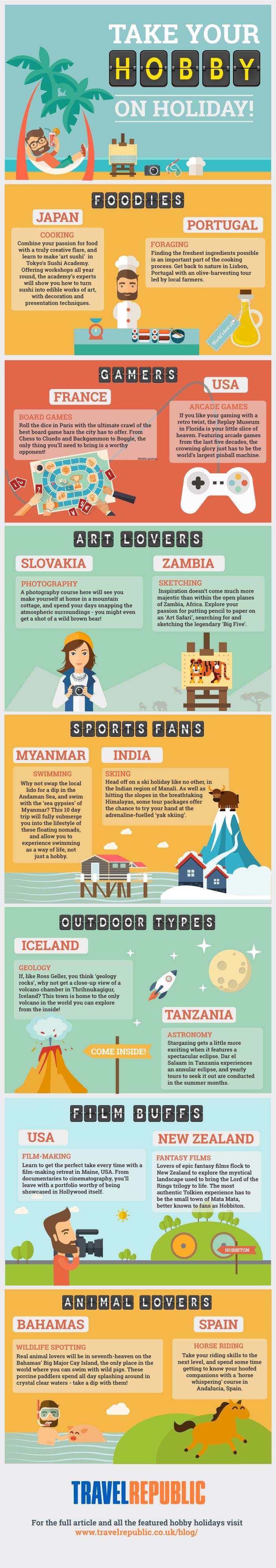 Take Your Hobby on Holiday #infographic