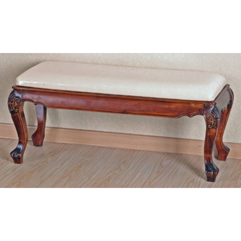 Carved Wood Foot-of-Bed Bench | Foot of bed, Cheap bedroom ...