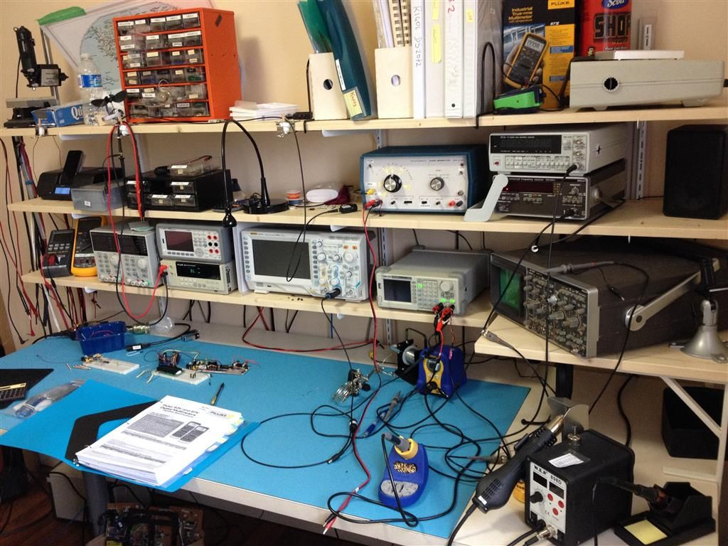 amateur radio electronic workbench  Whats your Work-Bench/lab look like? Post some pictures of your Lab. Electronic  WorkbenchWork BenchesHam RadioArduinoLabsComputersPictures OfWorkshopGarage