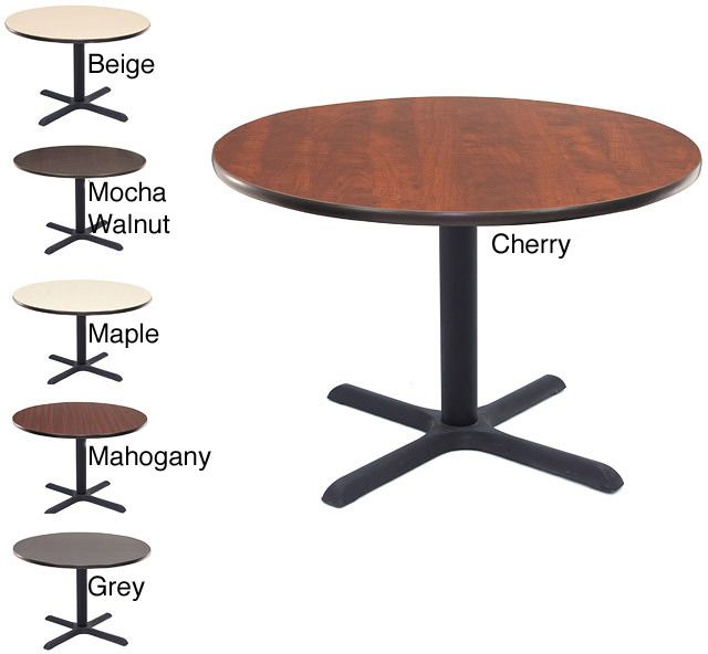 Regency Seating Regency Lunchroom Inch Round Table Banquette - 42 inch round office table