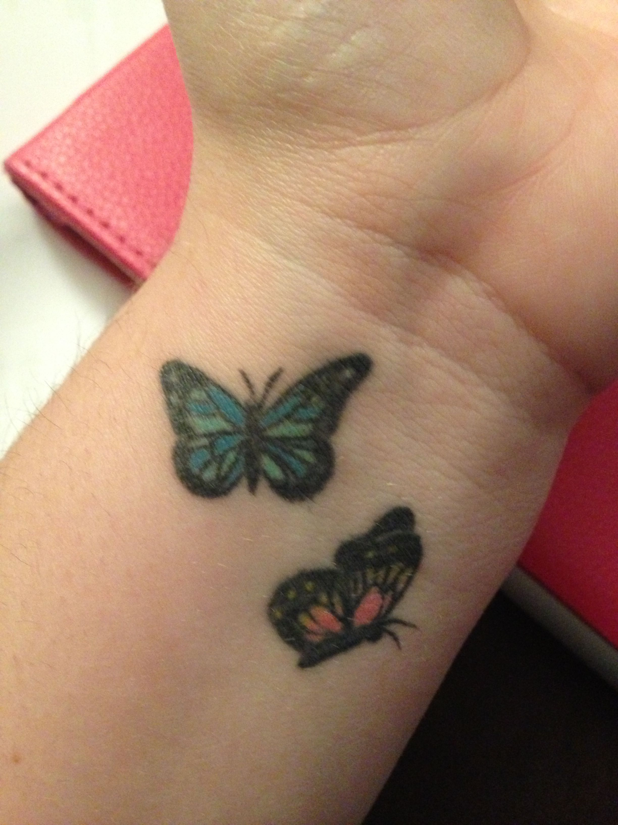 Love my wrist tattoo Small butterfly tattoo, Butterfly