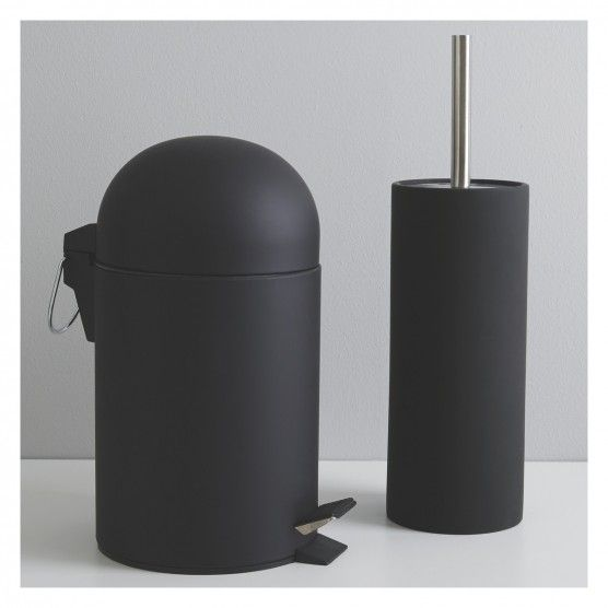 Lima Black Soft Touch Bathroom Bin Buy Now At Habitat Uk