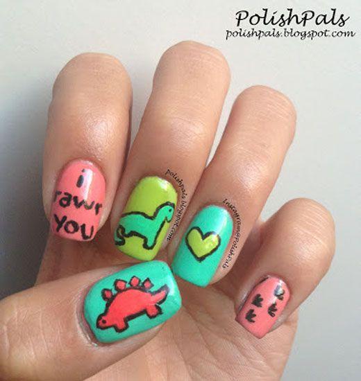 25 Super Cute Kid-Approved Nail Art Designs   Pinterest ...
