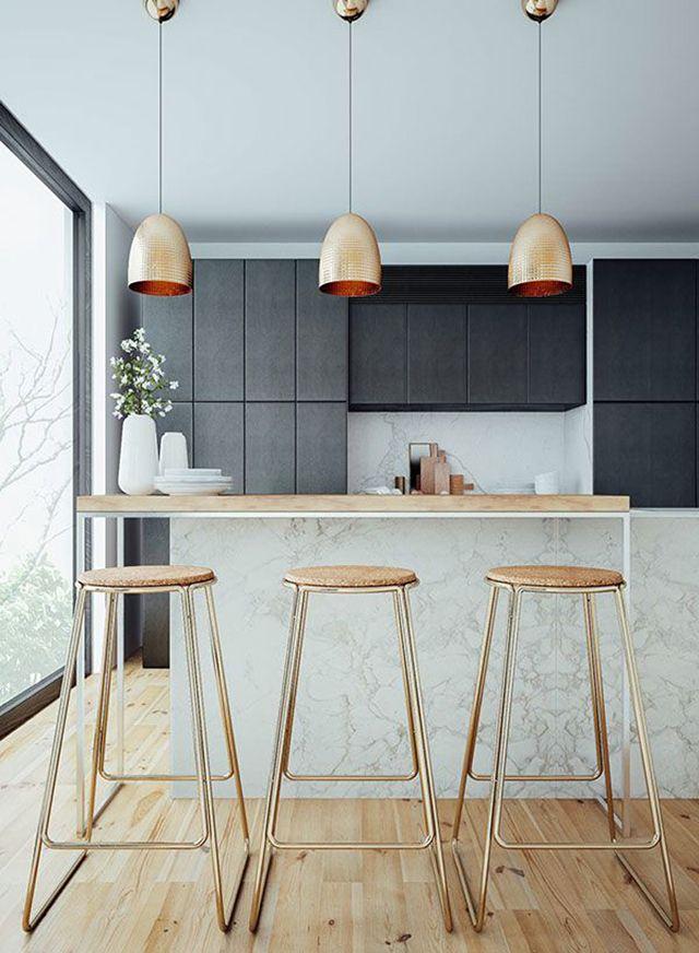 encimeras de mármol para cocinas Cocinas modernas Pinterest