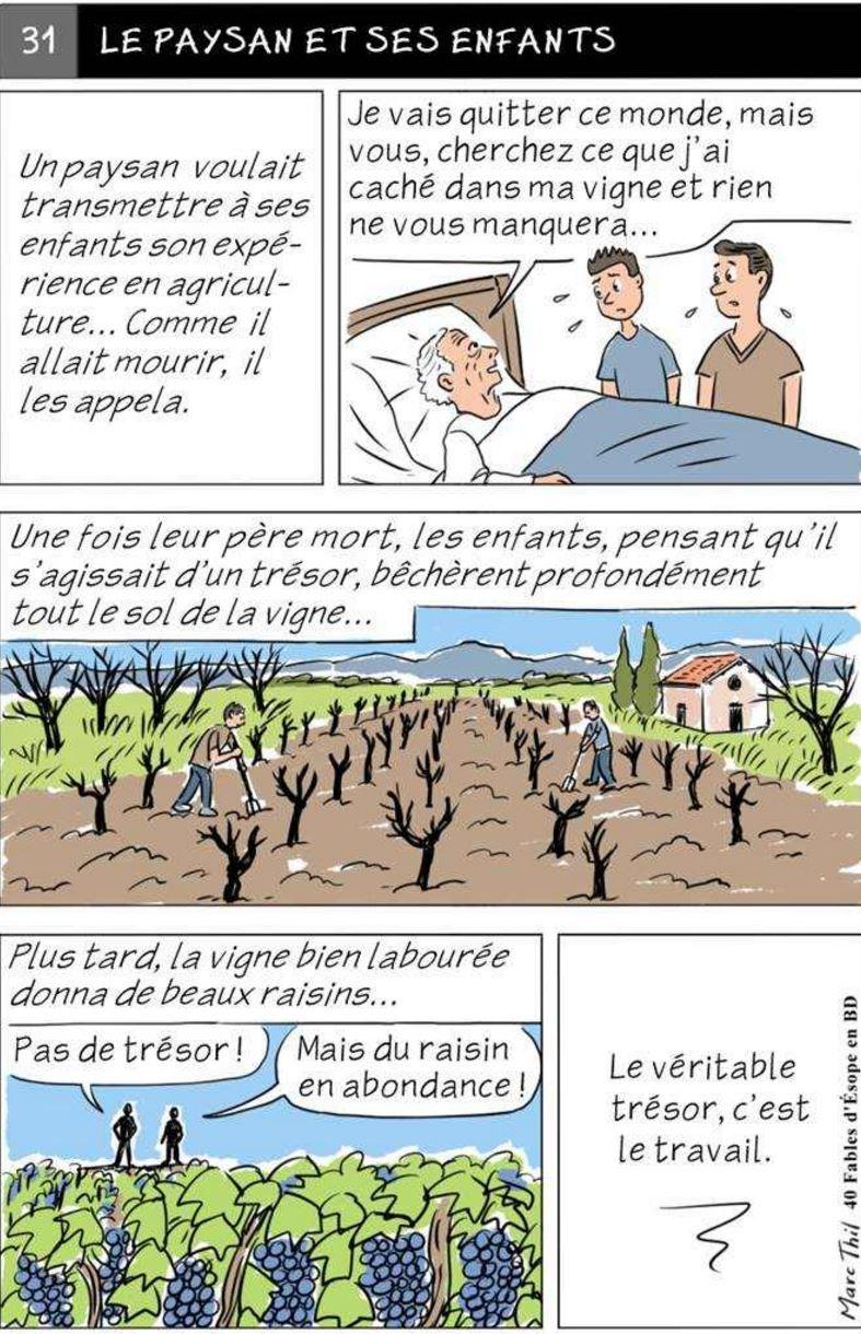 Fable d'Esope en BD - LE PAYSAN ET SES ENFANTS   Fables ...