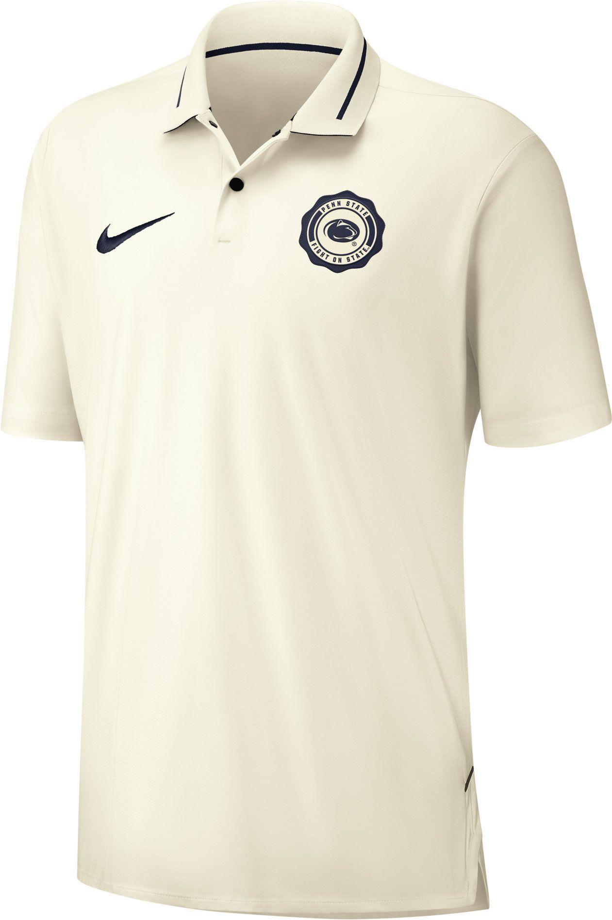 Nike Mens Penn State Nittany Lions Rival Football White Polo
