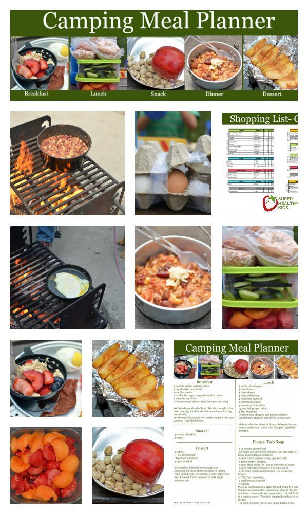 Camping Menu Love This Healthy Meal