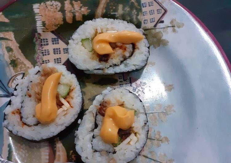 Sushi Tuna Simple Banget Di 2021 Resep Masakan Masakan Resep