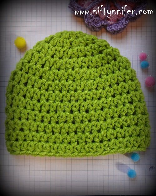 Easy Hdc Beanie All Sizes!**Love The Yarn Box!!--Uhhhhhhh but Gotta change the color!**