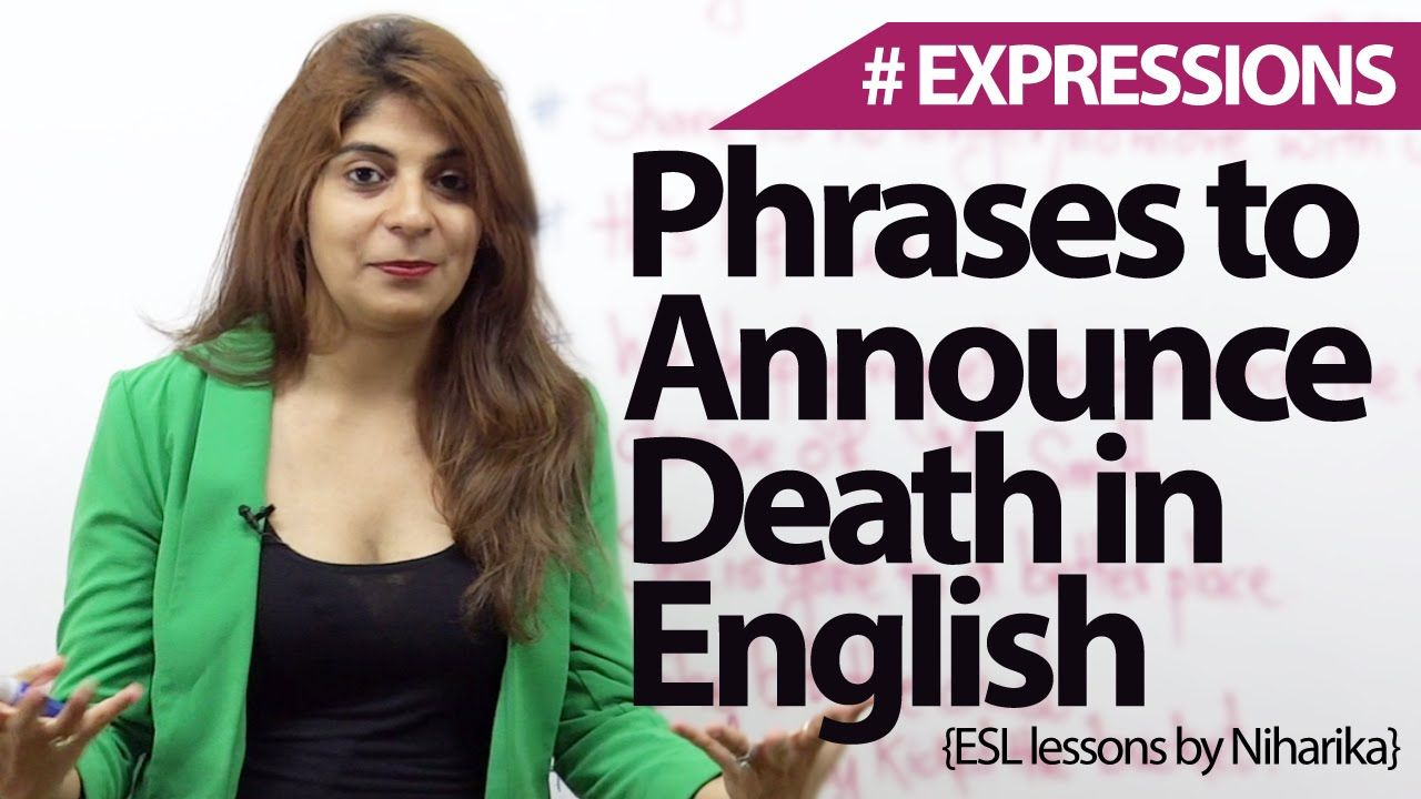 English phrases & Expressions to announce death - Free Spoken English le...