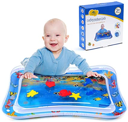 Amazon Com Magifire Tummy Time Baby Water Mat Infant Toy Inflatable Play Mat For 3 6 9 Months Newborn Boy Girl Toys Ga In 2020 Tummy Time Toys Baby Toys Tummy Time