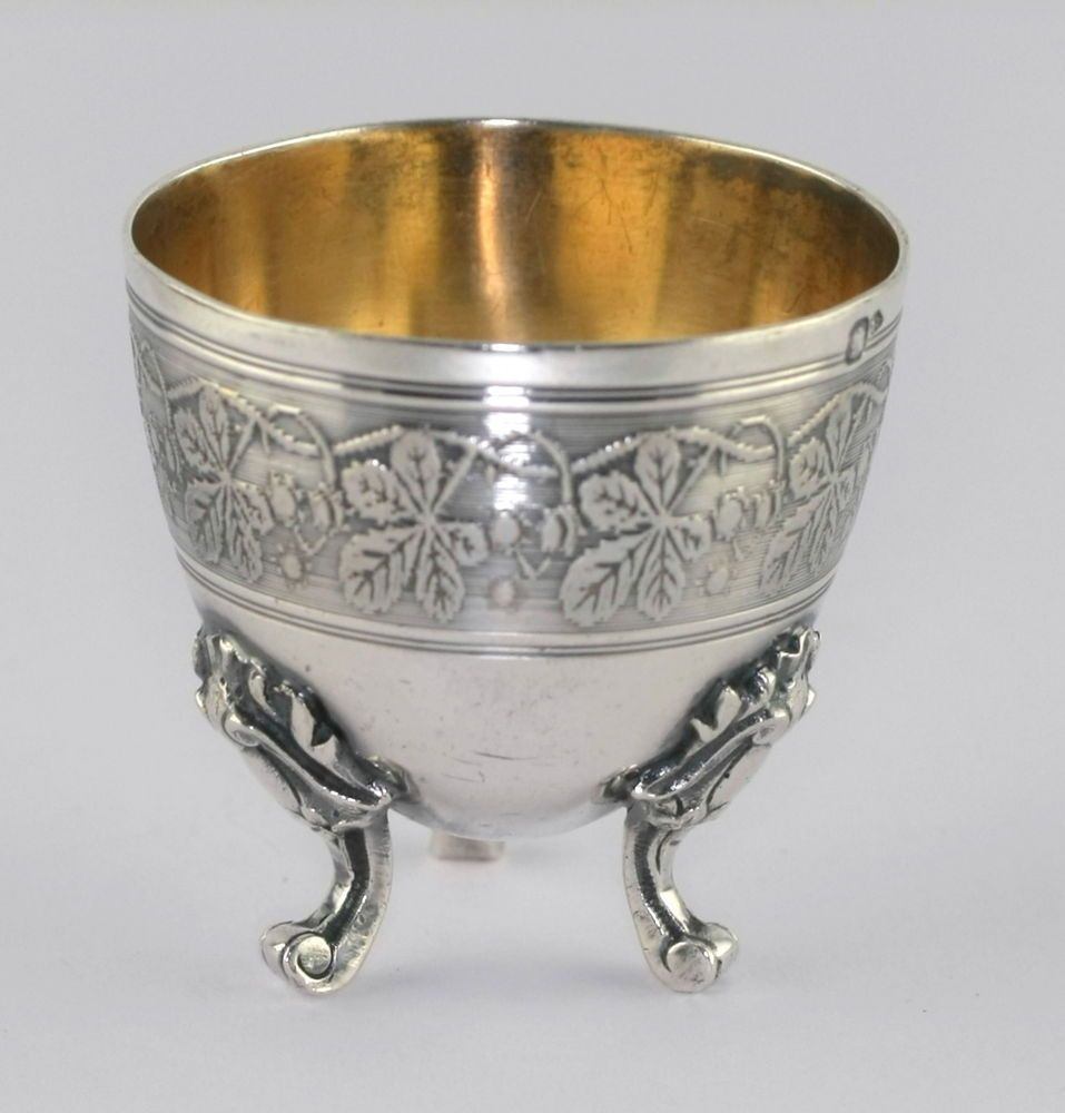 df9c05c1826d Antique French Minerva 950 Sterling Silver Three Leg Foliate Design Egg Cup  #EugeneLefebvre #3legged