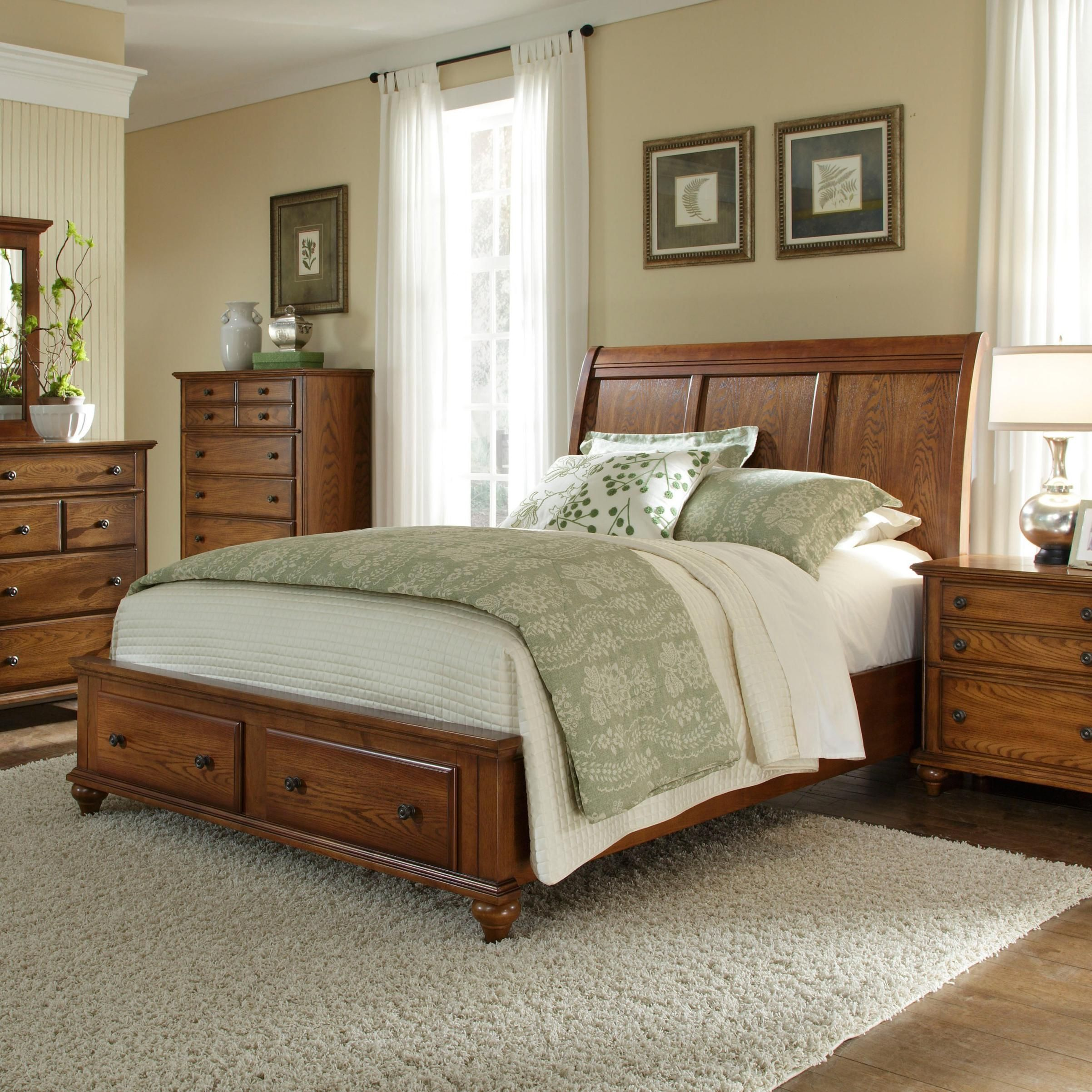Hayden Place King Sleigh Bed with Storage Footboard by Broyhill