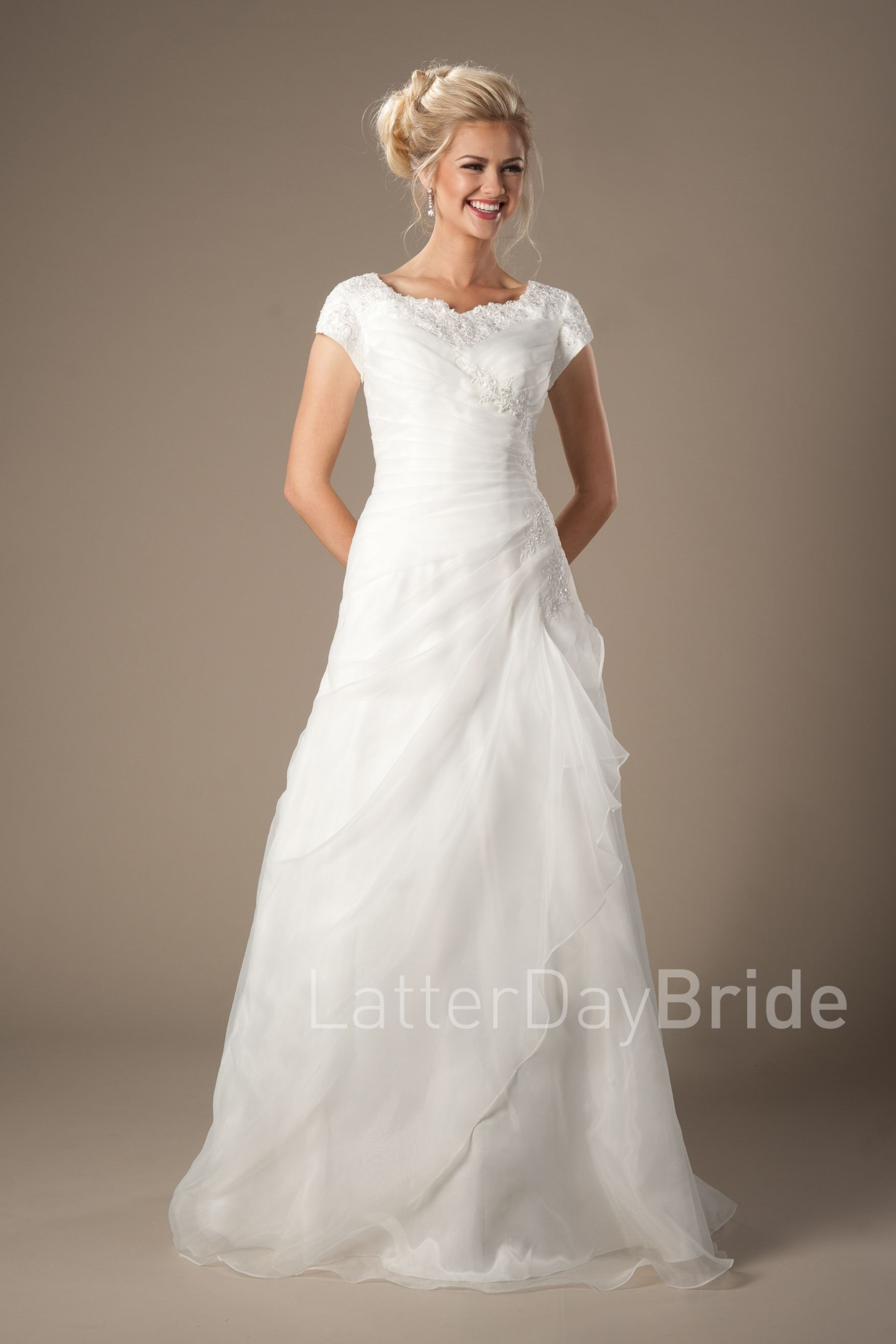 Drummond | Modest Wedding Dress | LatterDayBride & Prom | SLC ...