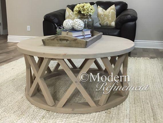Mesa de centro hermosa casa redonda rústica | MOBILIARIO | Pinterest ...