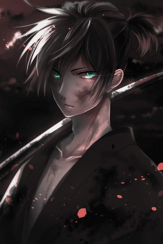 1440x2880 Wallpaper Warrior Yato Noragami Dark Anime