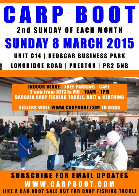 Carp Boot Car Boot Sale For New And Used Carp Fishing Tackle