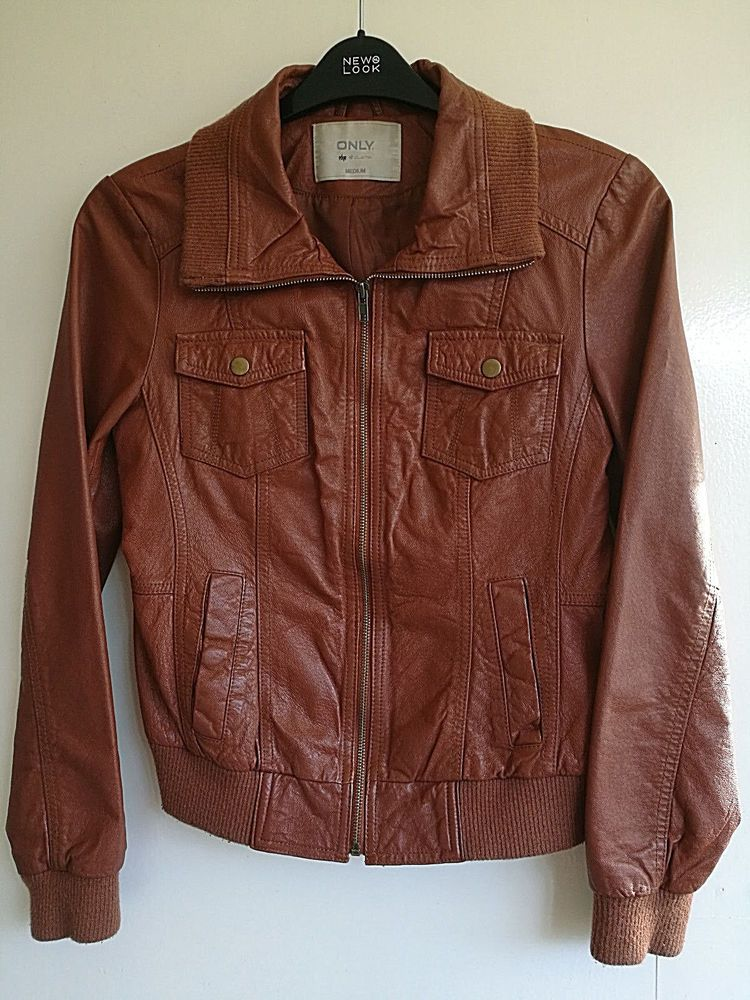 82dd9d5694b2 OSLO LEATHER JACKET ONLY COLLECTION BIKER LADIES JACKET PIG LEATHER ...
