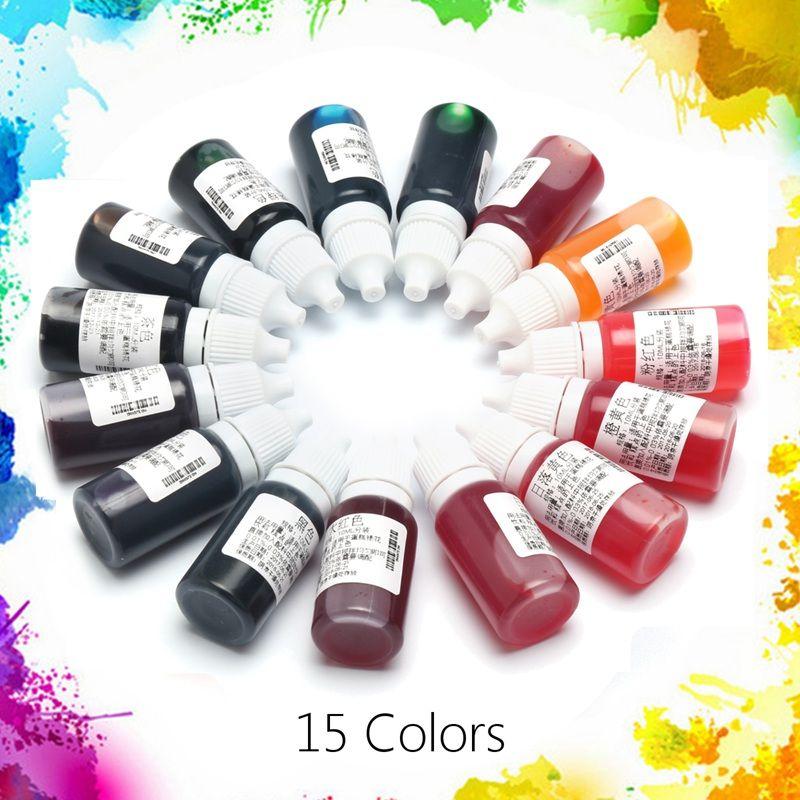 Beste Preis 15 Teile/satz 10 ML 15 Farben Epoxidharz Pigment UV harz ...