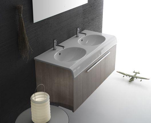 CERAMICA GLOBO doppio lavabo bowl plus 50*110 Doppio