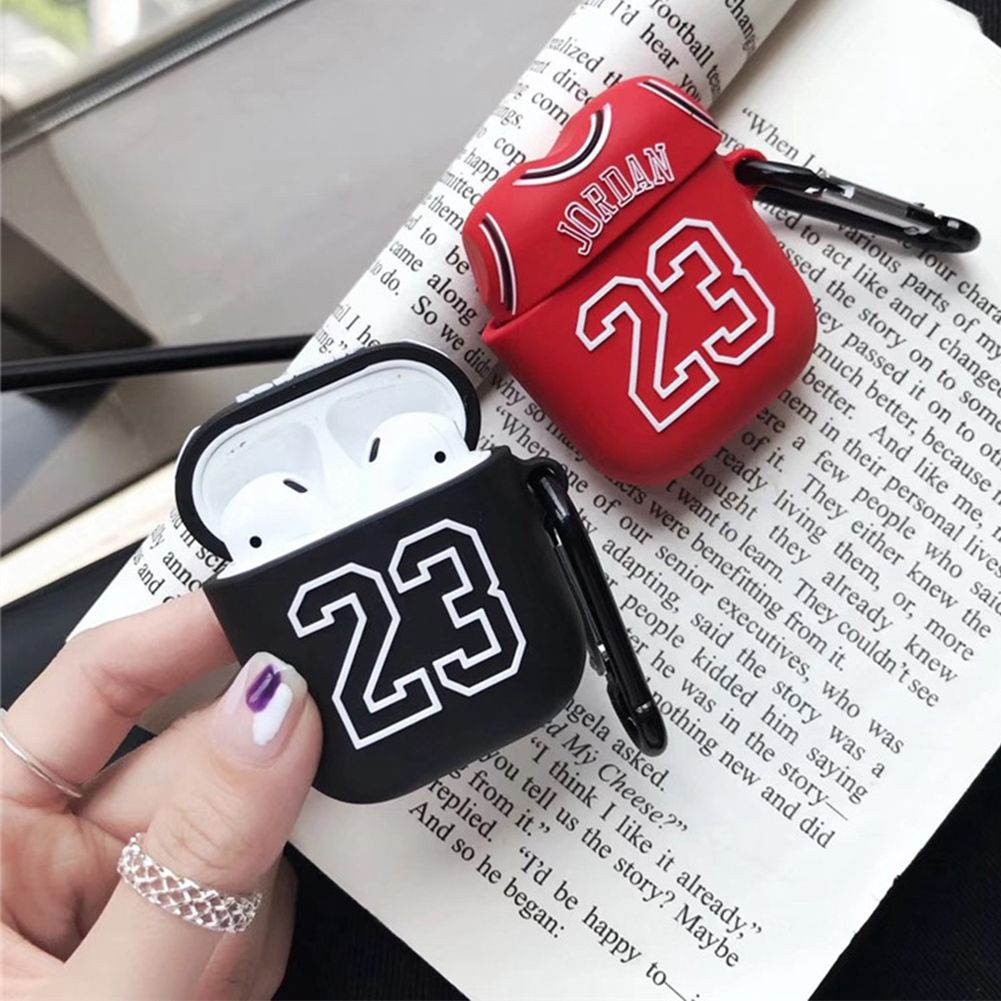 Buy micheal jordan 23 apple airpods case soft silicone