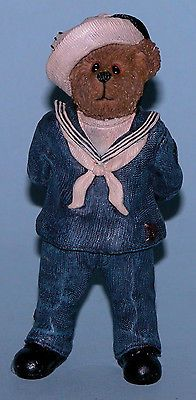 Boyds Bears ornament Navy, #25117 patriotic American military sailor at ease