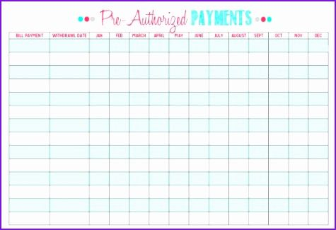 Monthly Bill organizer Bill organizer Chart Free Printable Bill
