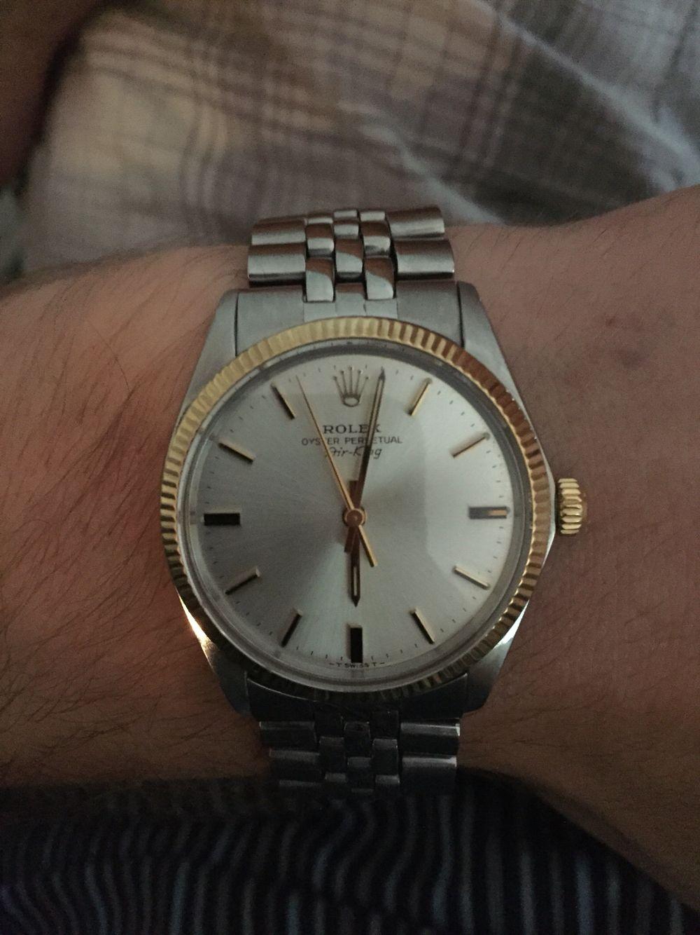 Rolex Air King 5500 Rolex air king, Rolex, Gold watch