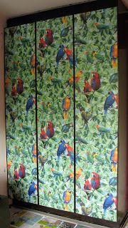 Wallpaper wardrobe doors