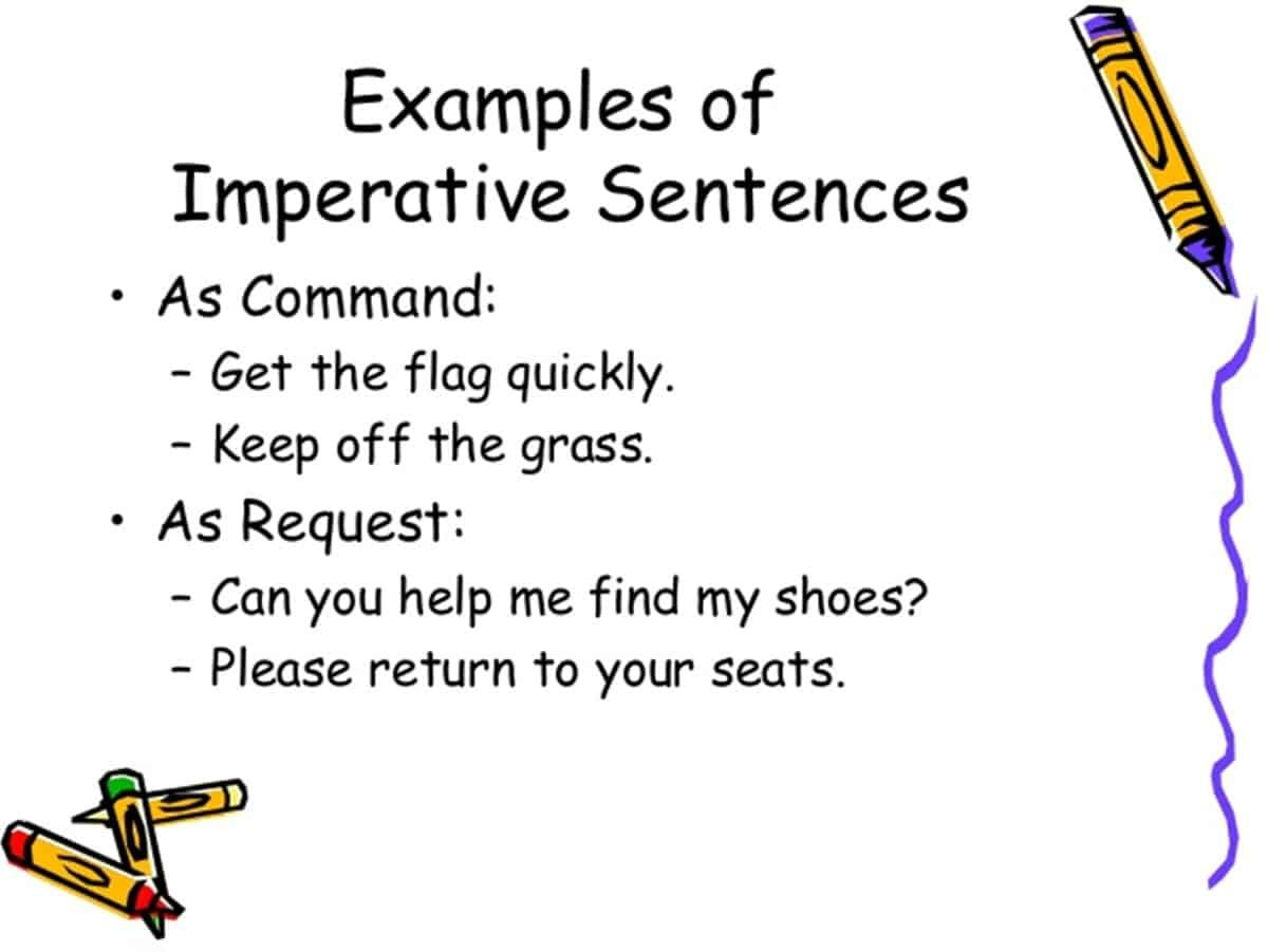 Imperative sentences definition examples eslbuzz