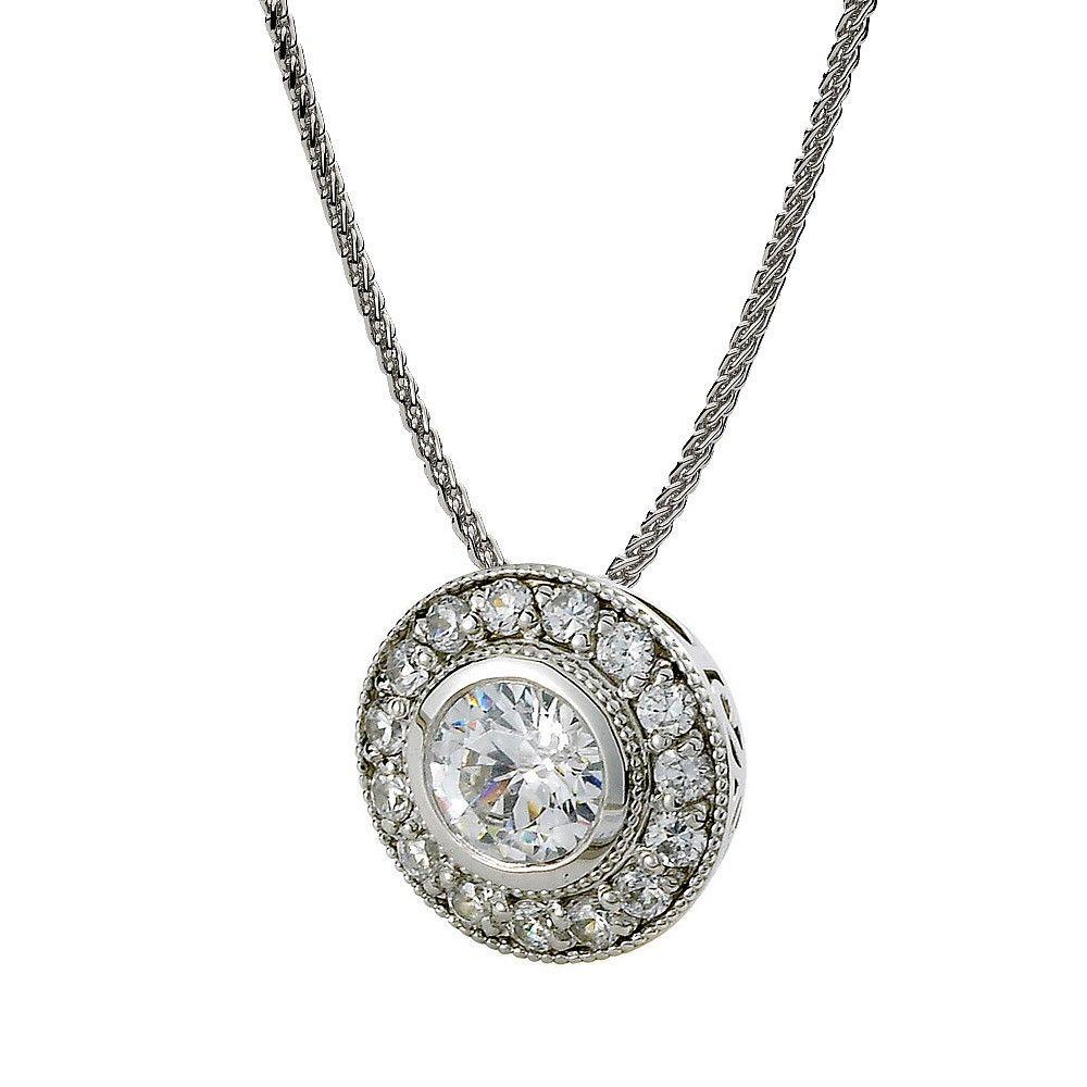 Build your own halo diamond bezel pendant visit our website to build your own halo diamond bezel pendant visit our website to select your center diamond aloadofball Choice Image