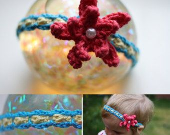Stretchy headband with pretty flower crochet pattern pretty stretchy headband with pretty flower crochet by daisychainpatterns mightylinksfo Choice Image