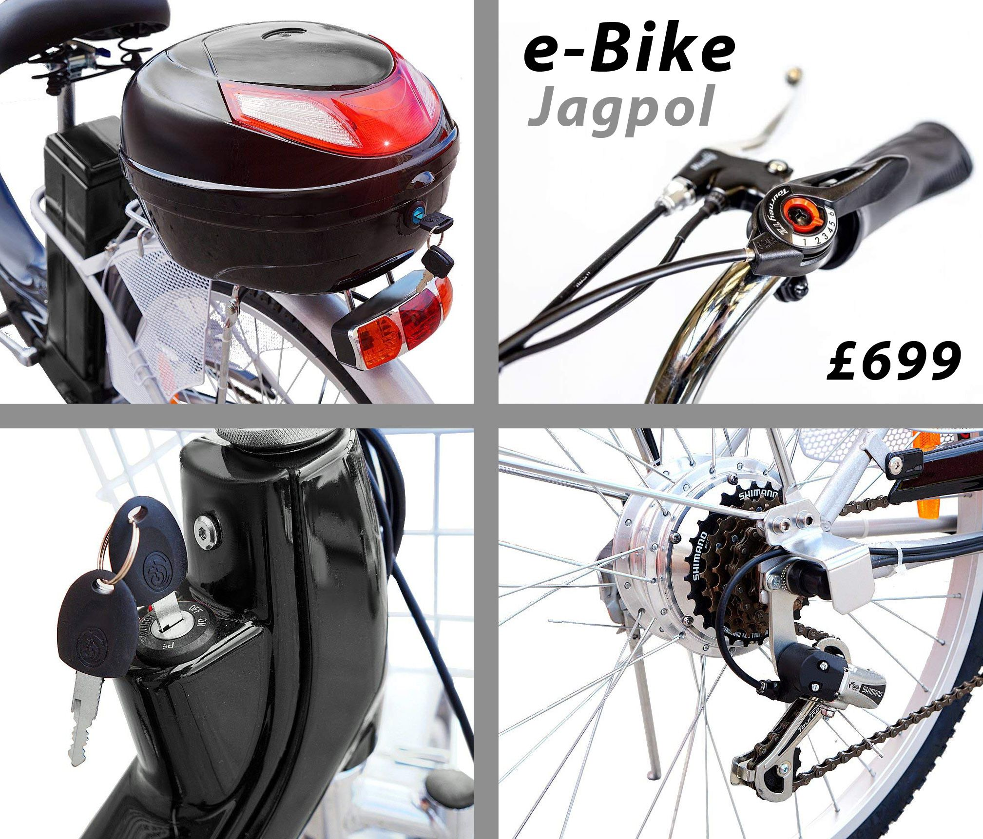 Details About New Electric Bike Bicycle 250 W Motor 26 Wheels