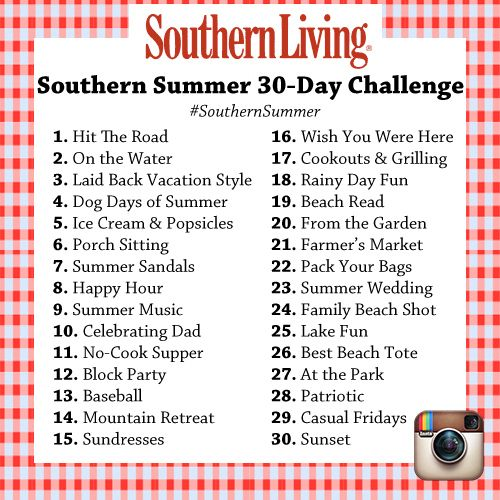 Southern Living Summer Instagram Challenge