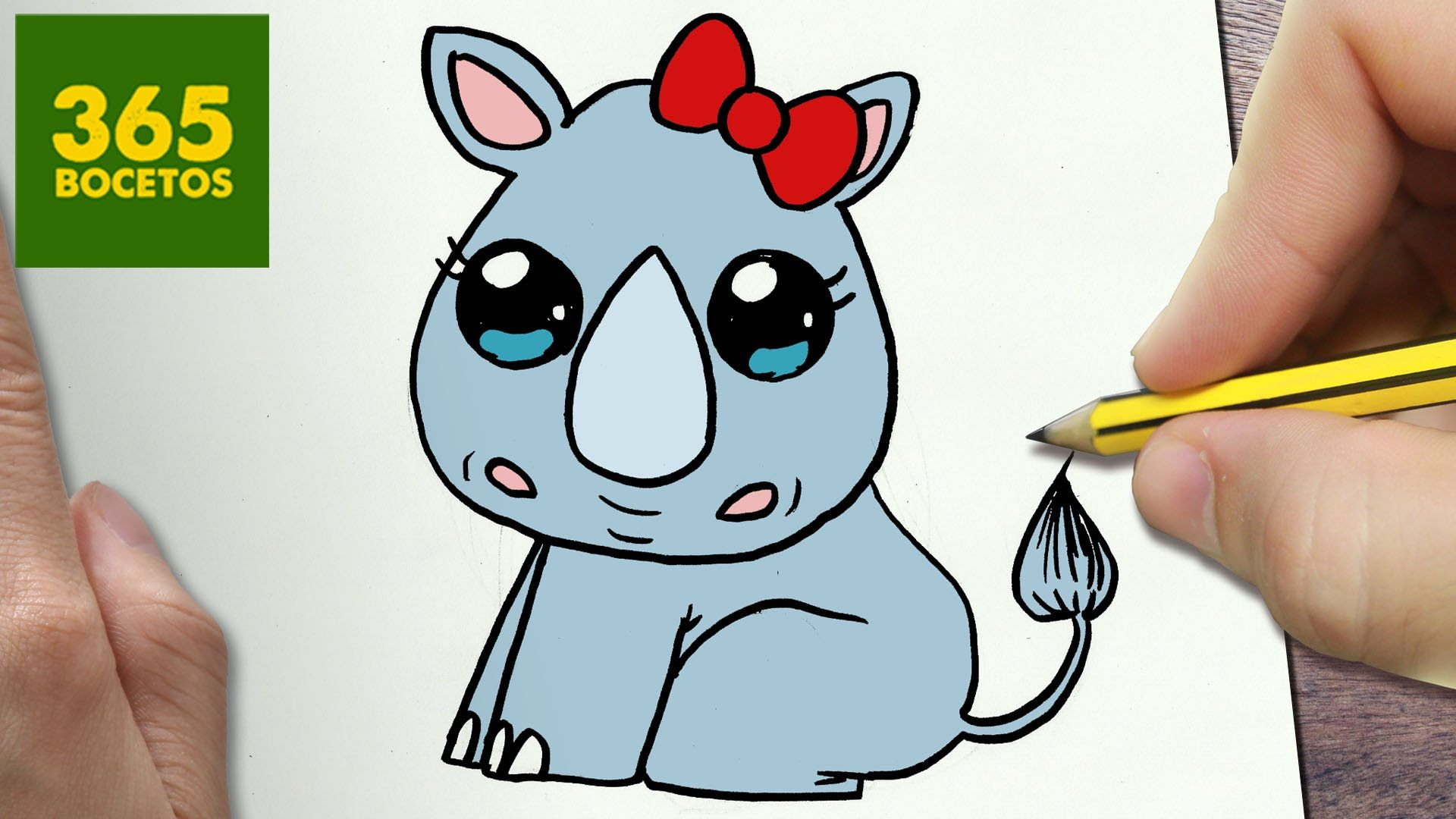 Como Dibujar Rinoceronte Kawaii Paso A Paso Dibujos Kawaii