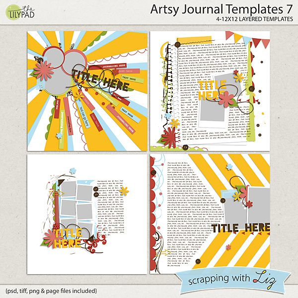 Give your student the opportunity to record vacation memories using this all inclusive journal. Artsy Journal Templates 7 Scrapbook Templates Journal Template Artsy
