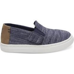 Toms Schuhe Dunkelblau Striped Chambray Tiny Luca Slip Ons  Größe 26 TomsToms Source by ladenzeile shoes slip on