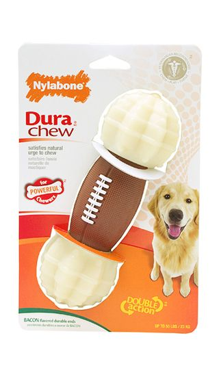 Durachew Double Action Chew Football Product Finder My Pet Is Large Dog Nylabone Nylabone Pets Dog Chews