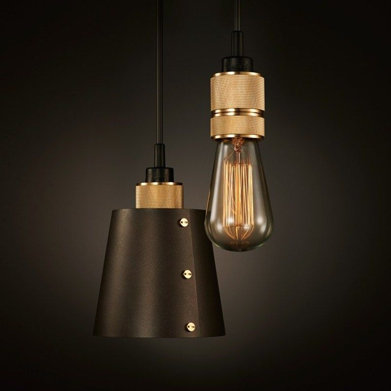 Hooked 1.0 Small + Heavy Metal Pendant I Design by Buster + Punch I London Design I Interior Design Lighting I Industrial Look I Brass Metal I Messing I Massimo Buster Minale
