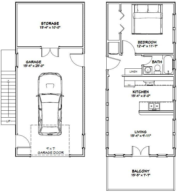 16x36 House 16x36h9i 744 Sq Ft Excellent Floor Plans Carriage House Plans Tiny House Floor Plans Cabin Floor Plans