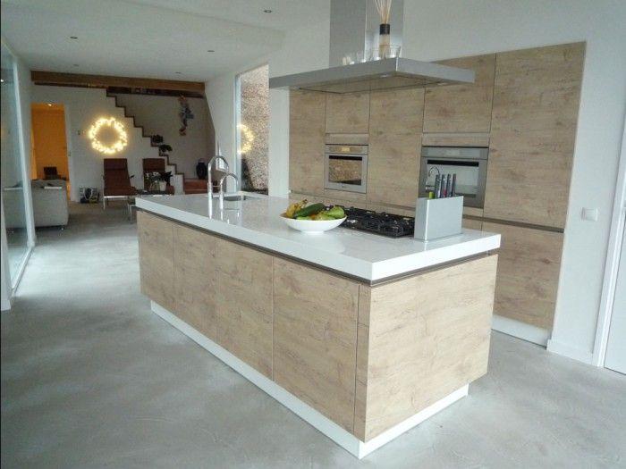 Keuken hout werkblad plavuizen keukenvloer - Keuken design werkblad ...