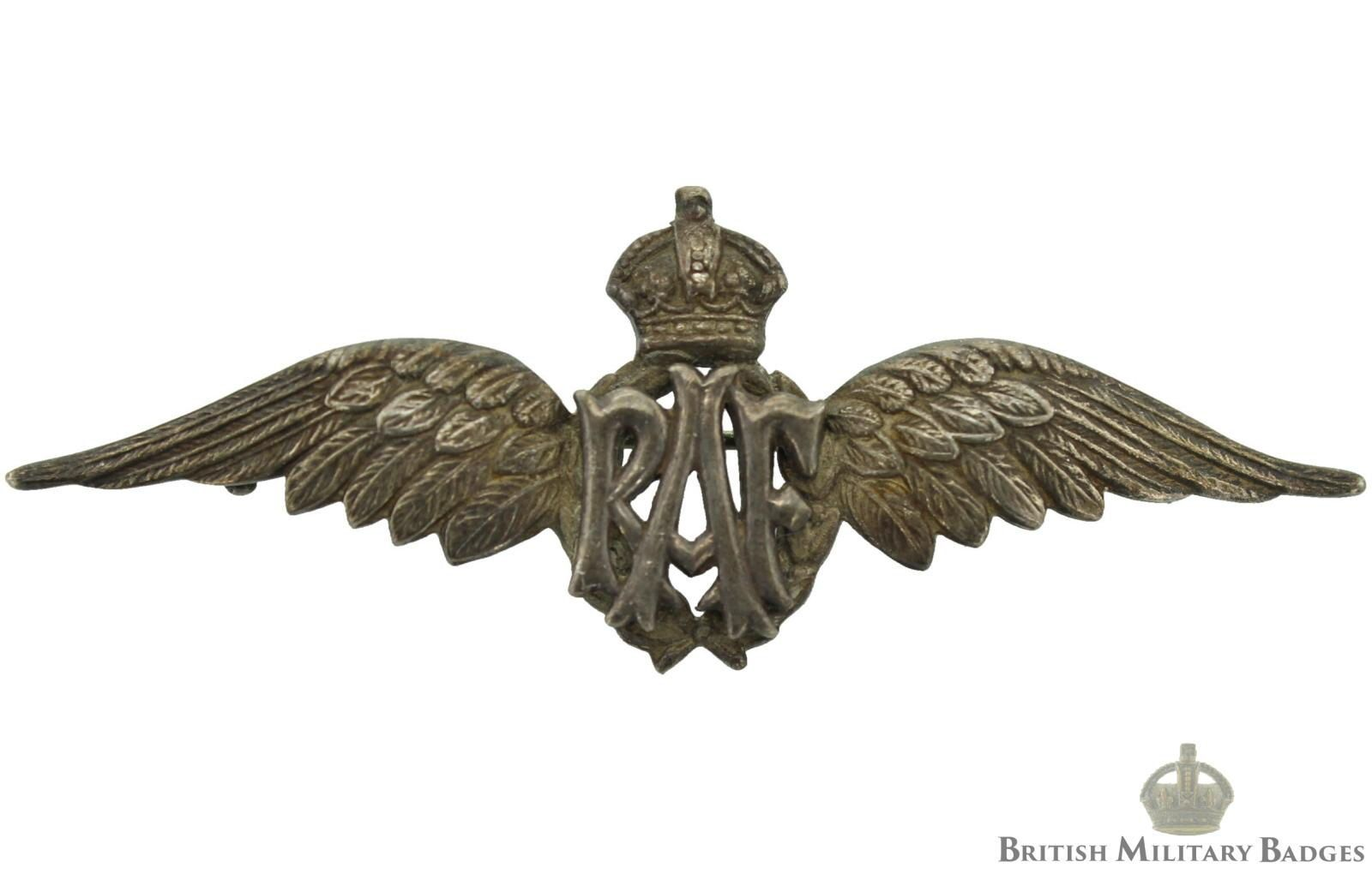 Sweetheart Brooch: WW2 Royal Air Force RAF WINGS Cap Lapel