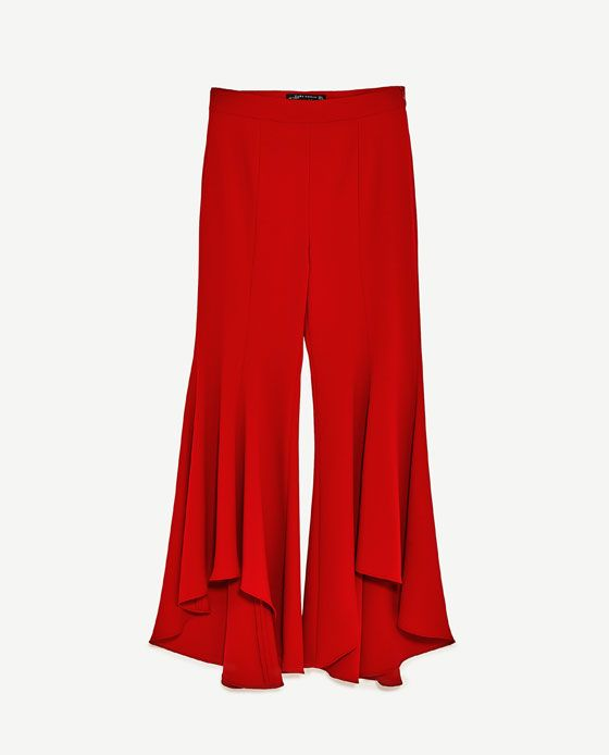 selezione premium 6fd27 1ab31 Immagine 8 di PANTALONI FLARE ASIMMETRICI di Zara | Clothes ...