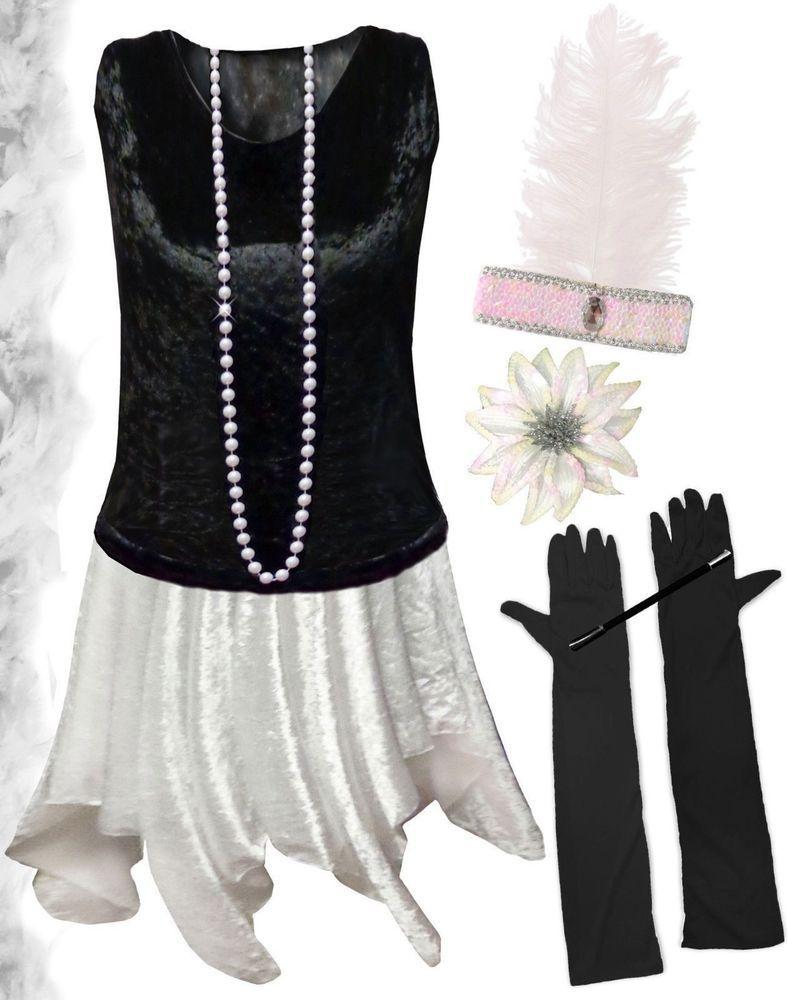 Black roaring 20s dresses plus size
