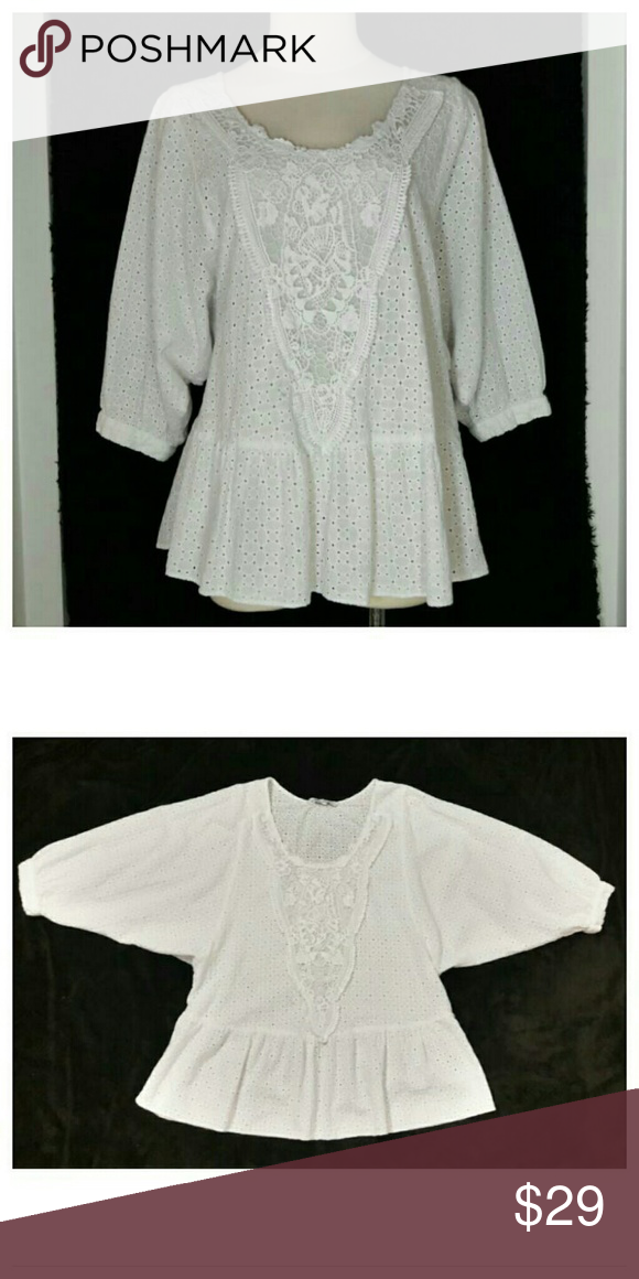 🚫Hold🚫ZARA White Peasant Blouse ZARA Basic bright white bohemian peasant blouse  An Adorable piece to add to your Spring/Summer wardrobe *Excellent Condition* Size Medium Zara Tops Blouses