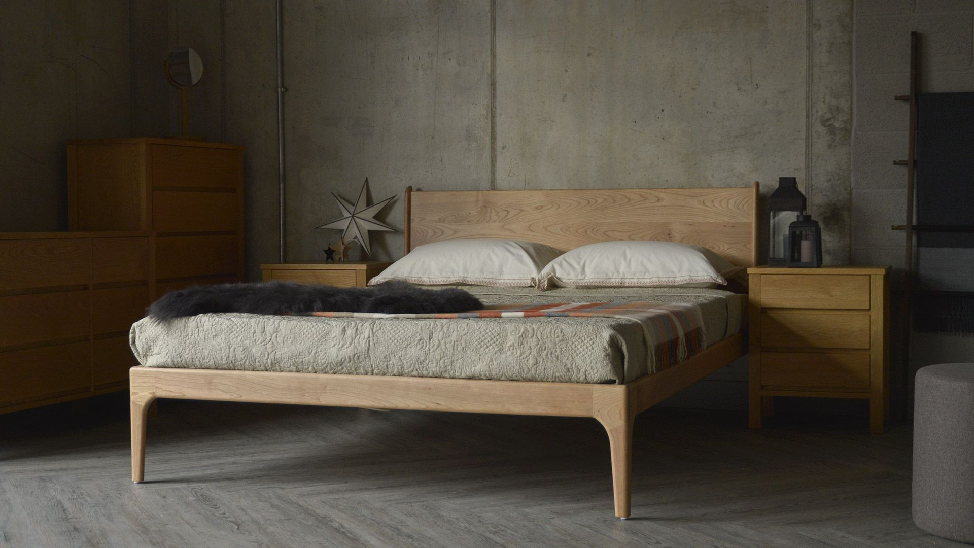Camden Handmade Bed Solid Wood Beds Natural Bed Company Bedroom Furniture Uk Solid Wood Bed Contemporary Bedroom Furniture