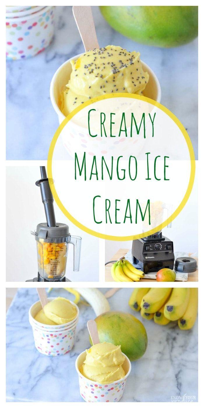 Creamy Mango Ice Cream #healthyicecream