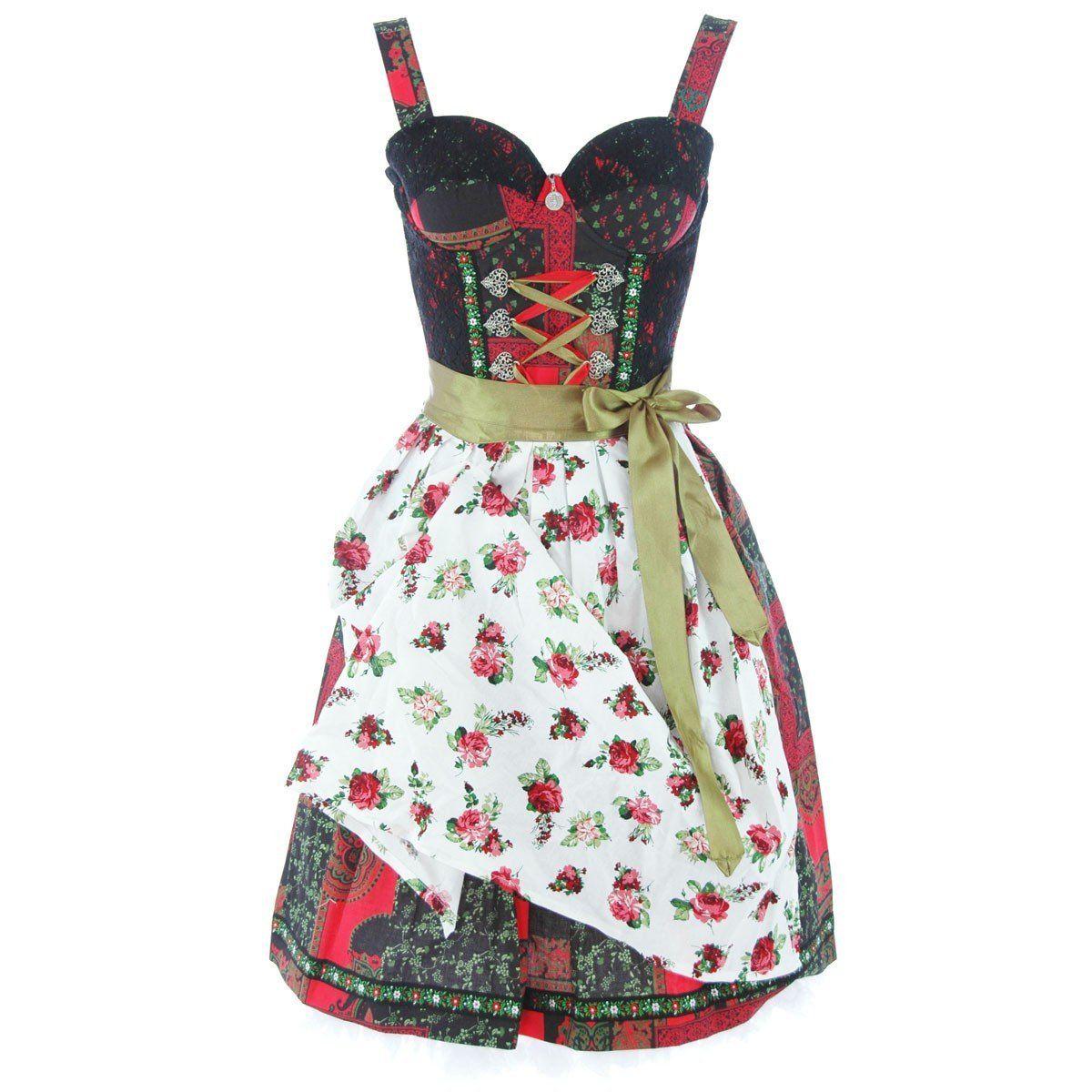 Couture Midi Dirndl Lola in Schwarz von ENA Trachten, Größe:M;Farbe:Schwarz: Amazon.de: Bekleidung